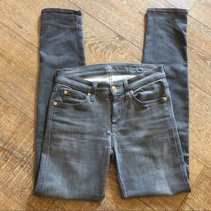 7 For All Mankind Gray Slim Cigarette Jeans 27